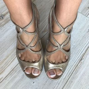 Choo gold sandals